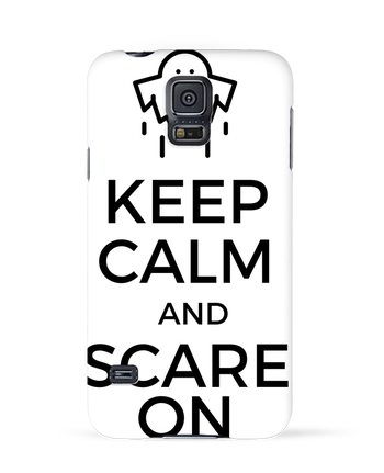 Coque 3D Samsung Galaxy S5 Keep Calm and Scare on Ghost par tunetoo