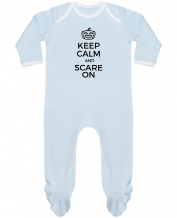 Pyjama Bébé Manches Longues Contrasté Keep Calm and Scare on Pumpkin par tunetoo
