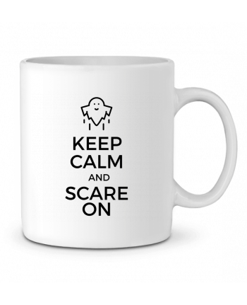 Mug en Céramique Keep Calm and Scare on Ghost par tunetoo