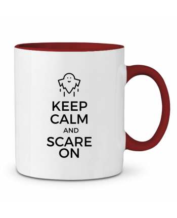 Mug en Céramique Bicolore Keep Calm and Scare on Ghost tunetoo