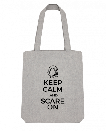 Tote Bag Stanley Stella Keep Calm and Scare on little Ghost par tunetoo