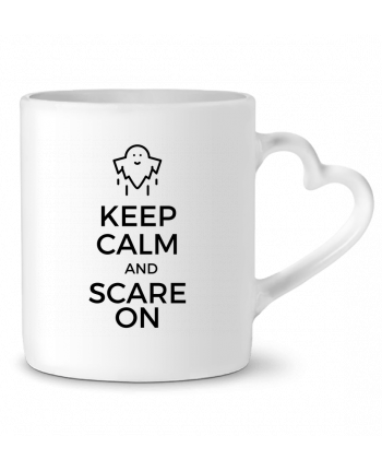 Mug Coeur Keep Calm and Scare on Ghost par tunetoo