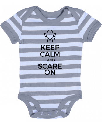 Body Bébé à Rayures Keep Calm and Scare on Ghost - tunetoo