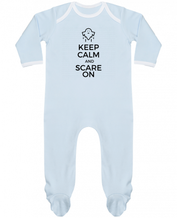 Pyjama Bébé Manches Longues Contrasté Keep Calm and Scare on Ghost par tunetoo