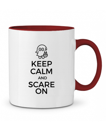 Mug en Céramique Bicolore Keep Calm and Scare on little Ghost tunetoo