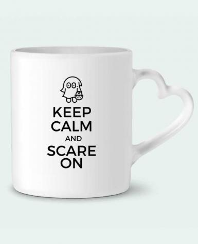 Mug Coeur Keep Calm and Scare on little Ghost par tunetoo
