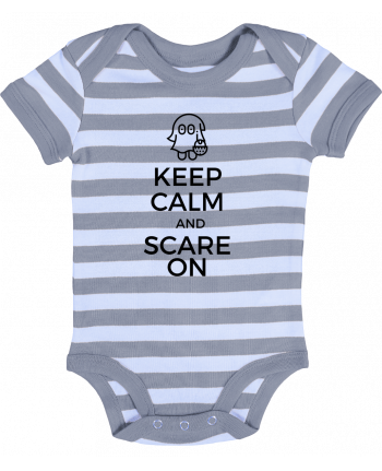 Body Bébé à Rayures Keep Calm and Scare on little Ghost - tunetoo