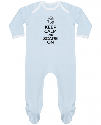 Pyjama Bébé Manches Longues Contrasté Keep Calm and Scare on little Ghost par tunetoo