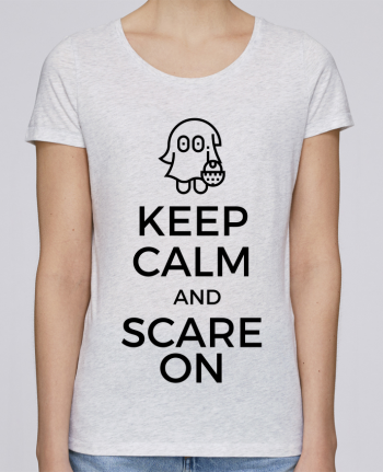 T-shirt Femme Stella Loves Keep Calm and Scare on little Ghost par tunetoo