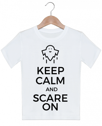 T-shirt garçon motif Keep Calm and Scare on Ghost tunetoo