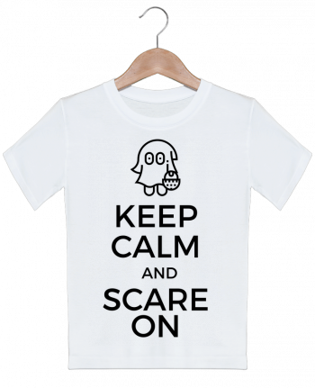 T-shirt garçon motif Keep Calm and Scare on little Ghost tunetoo
