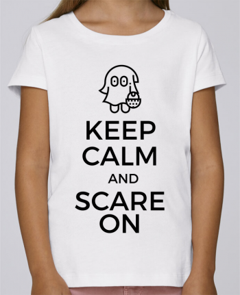 T-shirt Fille Mini Stella Draws Keep Calm and Scare on little Ghost par tunetoo
