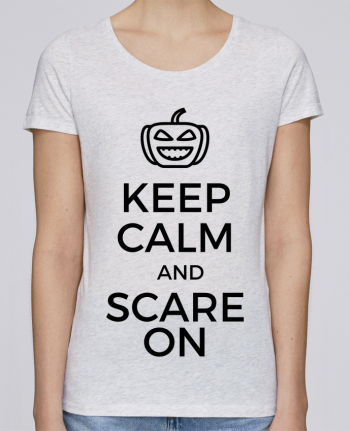 T-shirt Femme Stella Loves Keep Calm and Scare on Pumpkin par tunetoo