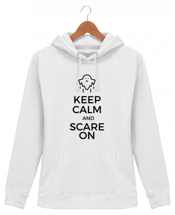 Sweat à Capuche Femme Keep Calm and Scare on Ghost - tunetoo