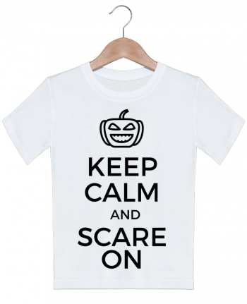 T-shirt garçon motif Keep Calm and Scare on Pumpkin tunetoo