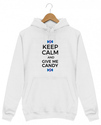 Sweat Shirt à Capuche Homme Keep Calm and give me candy par tunetoo