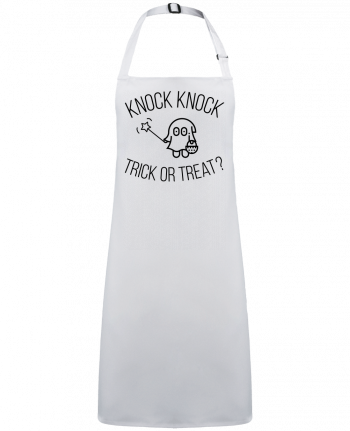Tablier Sans Poche Knock Knock, Trick or Treat? par  tunetoo