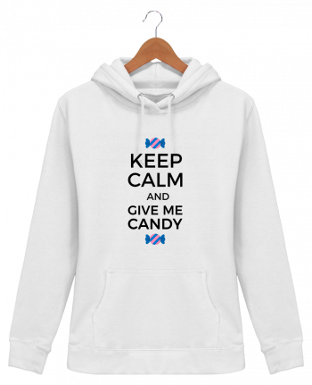 Sweat à Capuche Femme Keep Calm and give me candy - tunetoo
