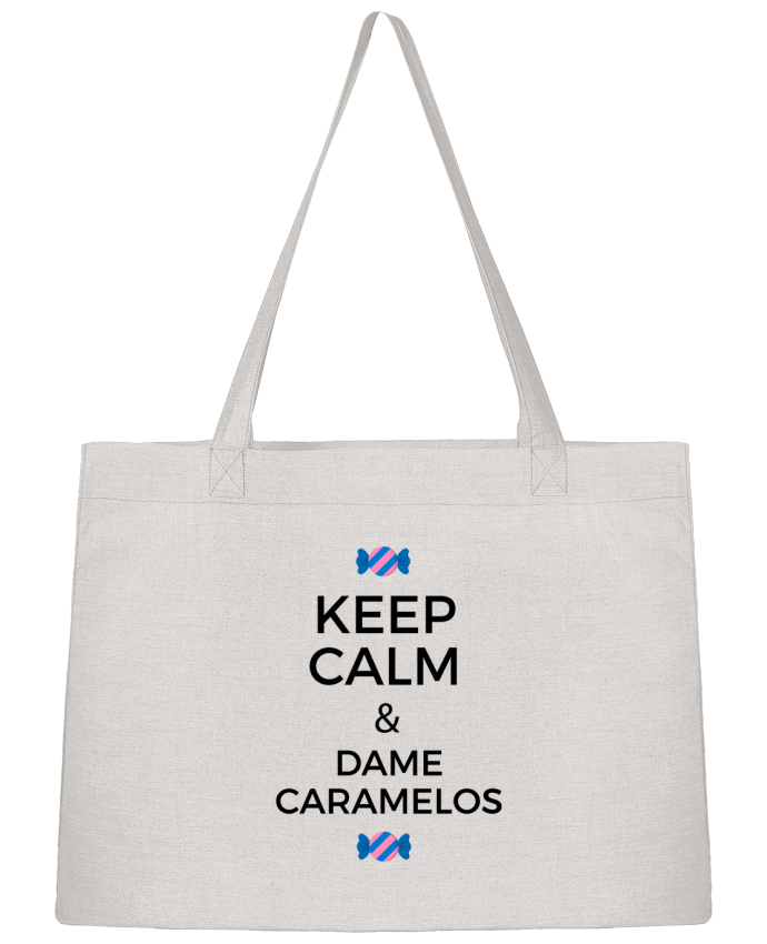 Sac Cabas Shopping Stanley Stella Keep Calm and Dame Caramelos par tunetoo