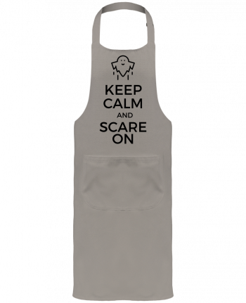 Tablier de Jardinier ou Sommelier avec Poche Keep Calm and Scare on Ghost par tunetoo