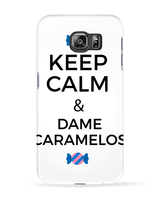 Coque 3D Samsung Galaxy S6 Keep Calm and Dame Caramelos - tunetoo