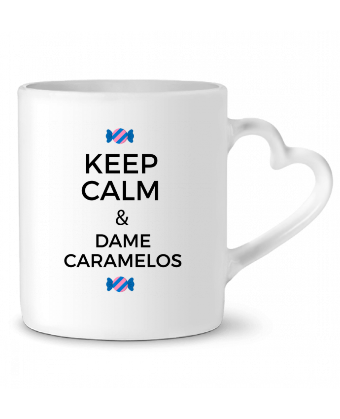 Mug Coeur Keep Calm and Dame Caramelos par tunetoo