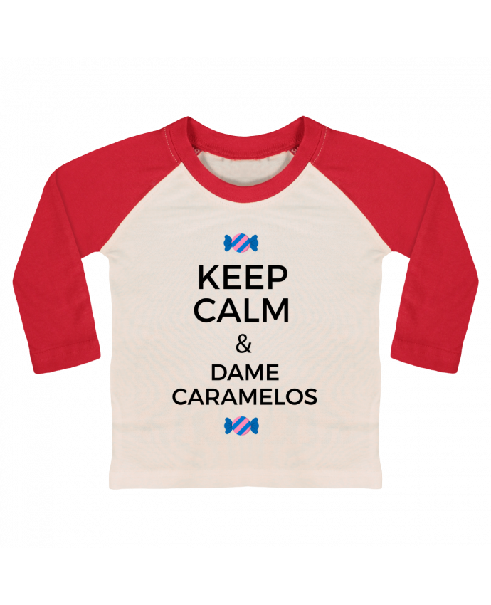 T-shirt Bébé Baseball Manches Longues Keep Calm and Dame Caramelos par tunetoo