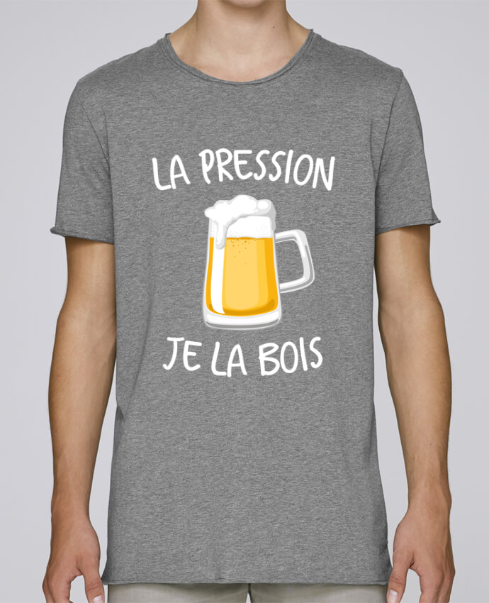 T-shirt Homme Oversized Stanley Skates La pression je la bois par FRENCHUP-MAYO