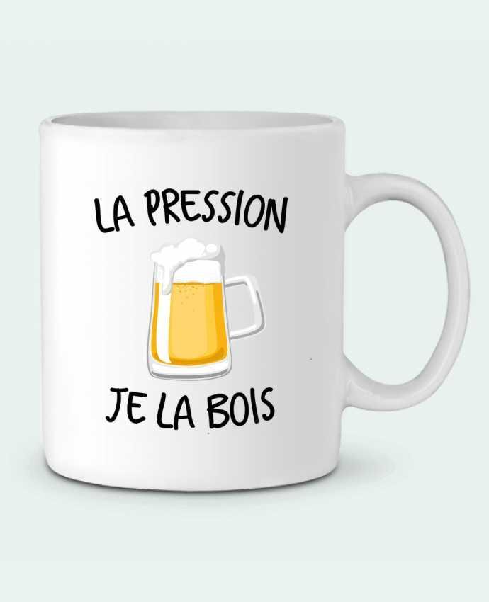 Mug en Céramique La pression je la bois par FRENCHUP-MAYO