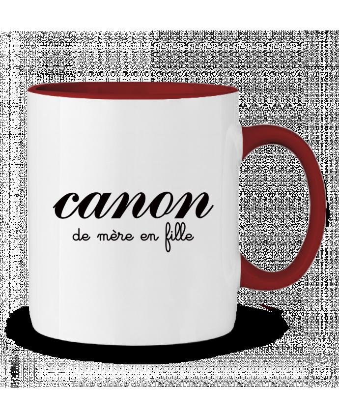 Mug en Céramique Bicolore Canon de mère en fille Freeyourshirt.com