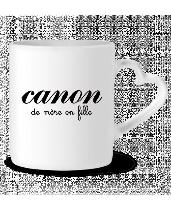 Mug Coeur Canon de mère en fille par Freeyourshirt.com