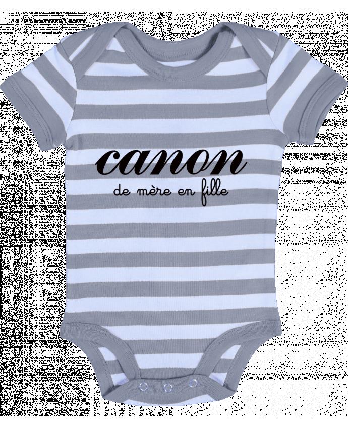 Body Bébé à Rayures Canon de mère en fille - Freeyourshirt.com