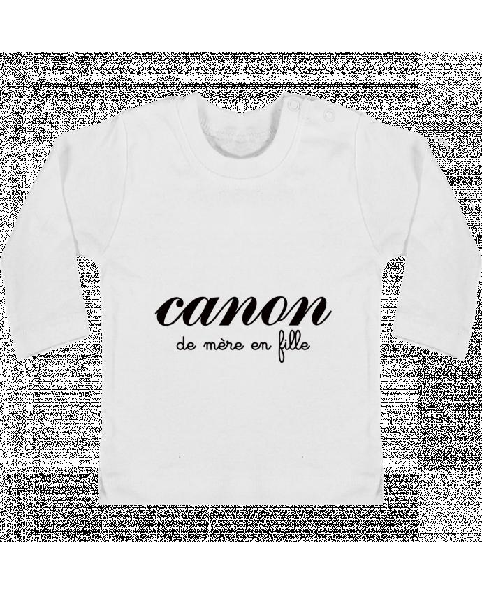 T-shirt Bébé Manches Longues Boutons Pression Canon de mère en fille  manches longues du 7b500e7db48f