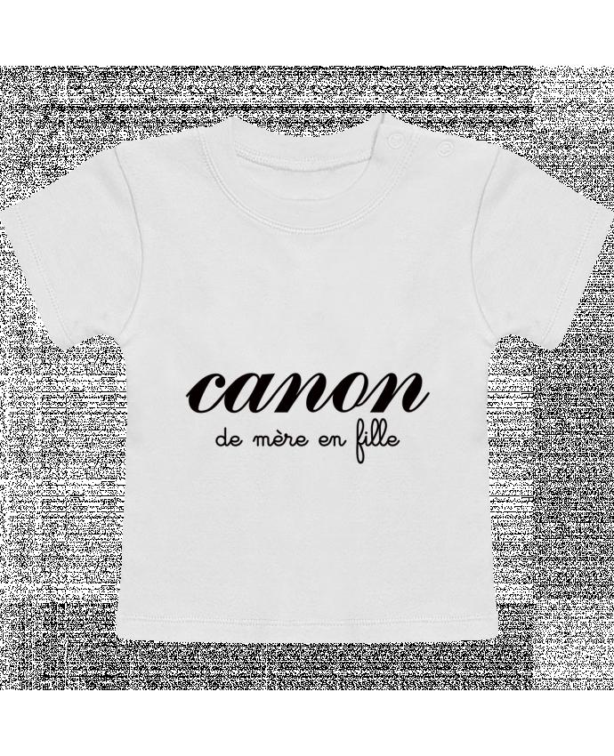 T-Shirt Bébé Manches Courtes Canon de mère en fille manches courtes du designer Freeyourshirt.com