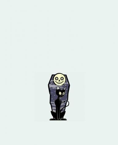 Sac en Toile Coton Coffin Cat par SirCostas