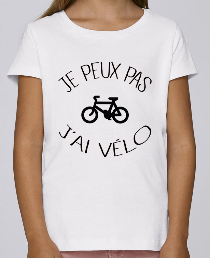 T-shirt Fille Mini Stella Draws Je peux pas j'ai vélo par Freeyourshirt.com