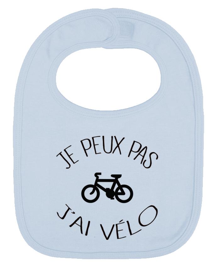 Bavoir Uni et Contrasté Je peux pas j'ai vélo par Freeyourshirt.com