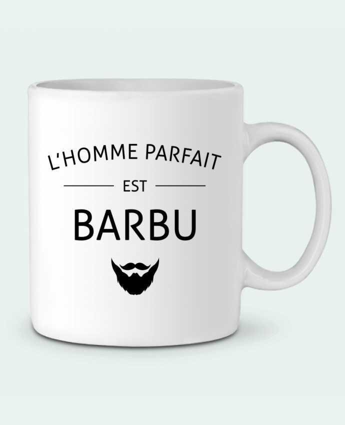 Mug en Céramique L'homme parfait est barbu par LPMDL