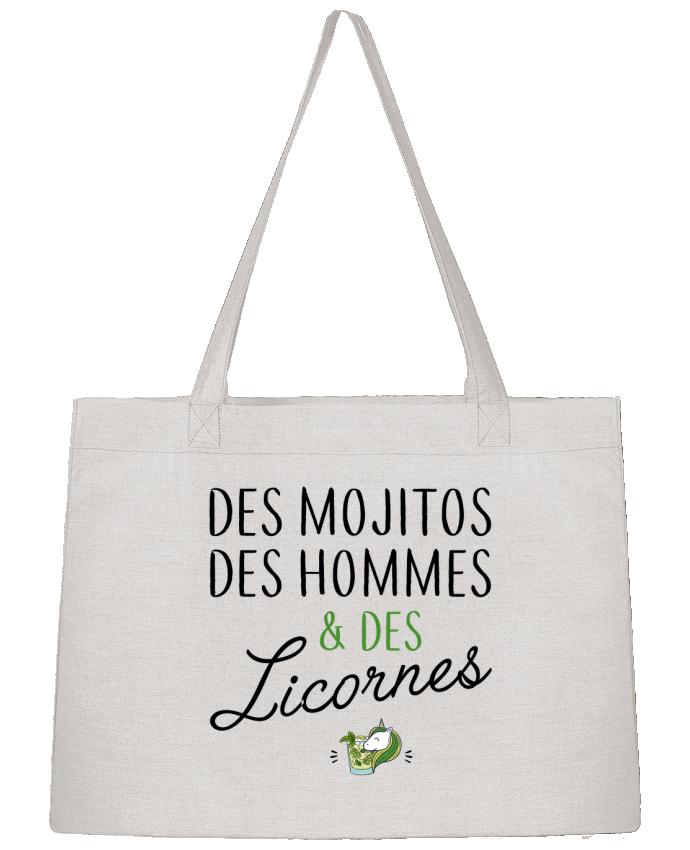 Sac Cabas Shopping Stanley Stella Des mojitos des hommes & des licornes par LPMDL