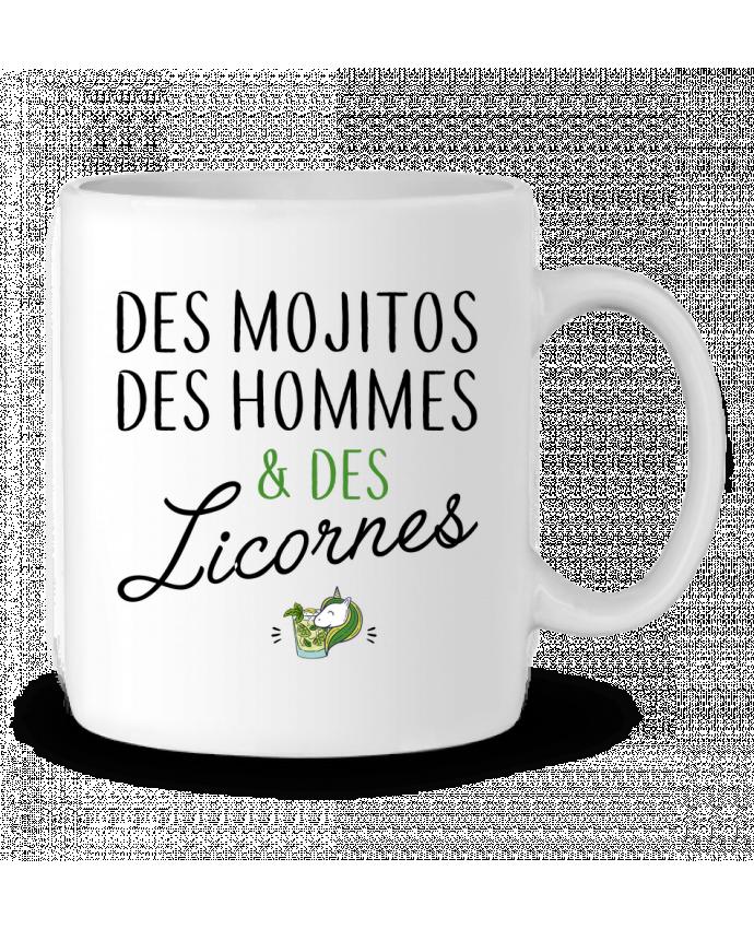 Mug en Céramique Des mojitos des hommes & des licornes par LPMDL