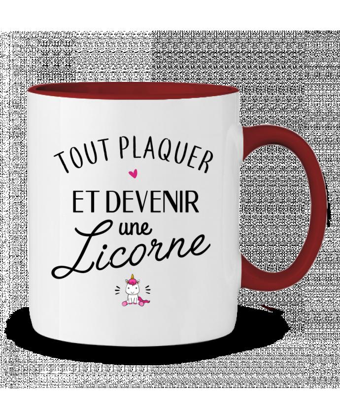 Mug en Céramique Bicolore Tout plaquer et devenir une licorne LPMDL