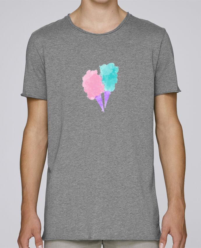T-shirt Homme Oversized Stanley Skates Watercolor Cotton Candy par PinkGlitter