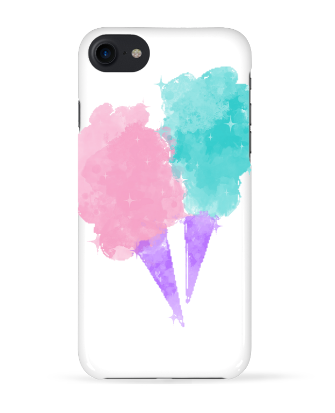 Coque 3D Iphone 7 Watercolor Cotton Candy de PinkGlitter