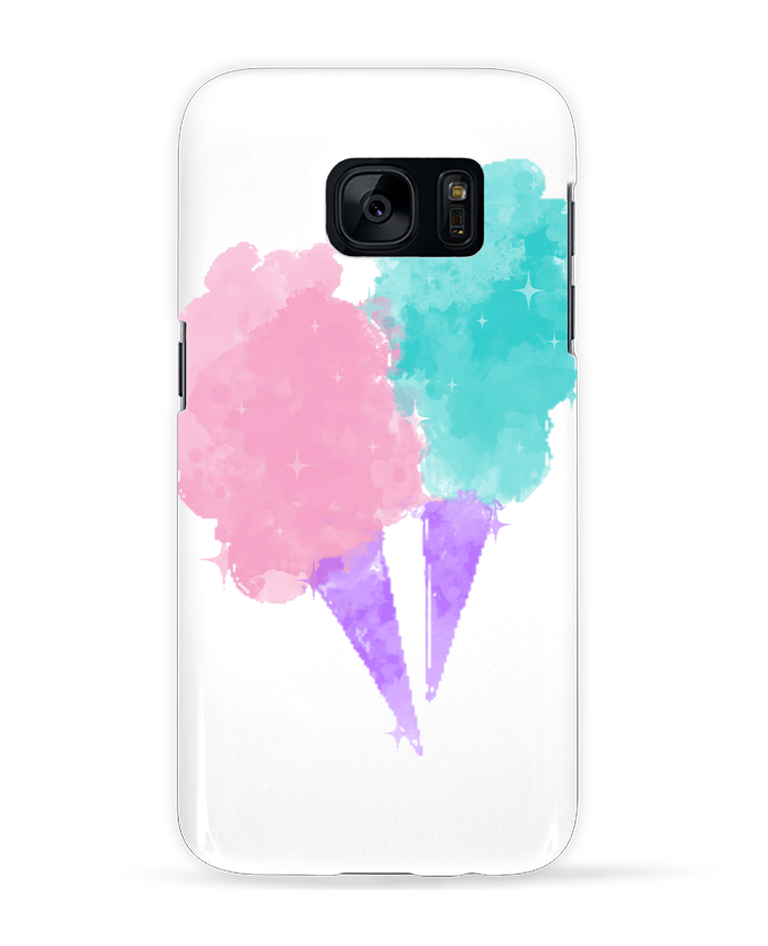 Coque 3D Samsung Galaxy S7 Watercolor Cotton Candy par PinkGlitter