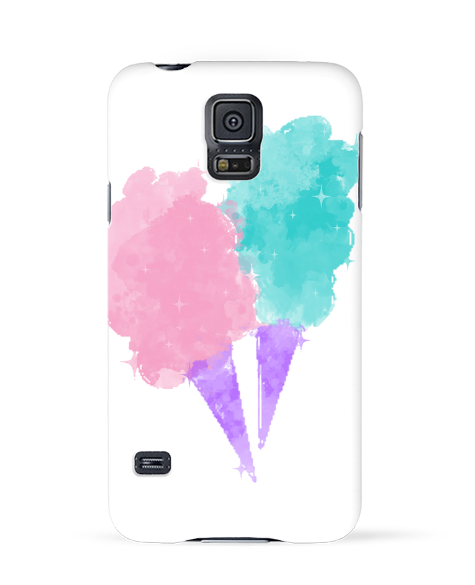 Coque 3D Samsung Galaxy S5 Watercolor Cotton Candy par PinkGlitter