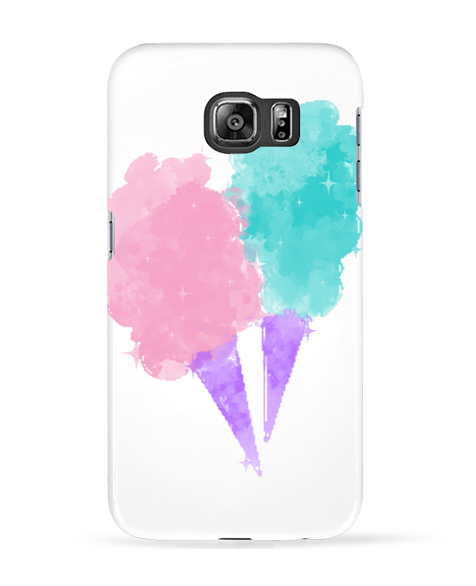 Coque 3D Samsung Galaxy S6 Watercolor Cotton Candy - PinkGlitter