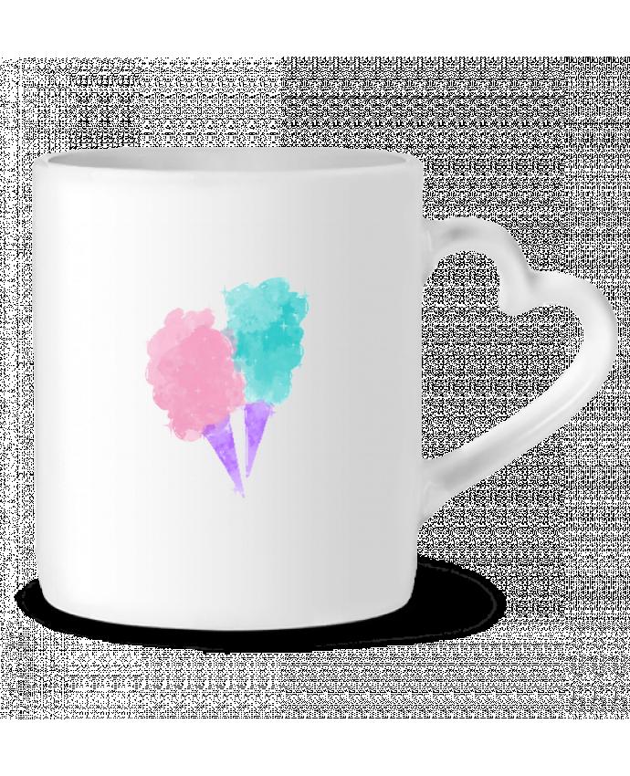 Mug Coeur Watercolor Cotton Candy par PinkGlitter