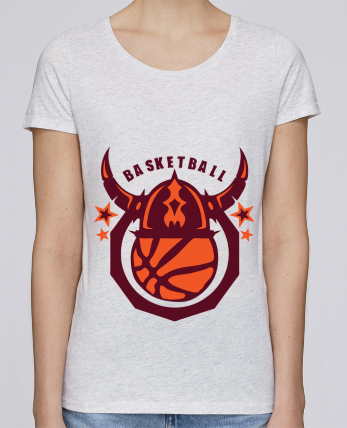 T-shirt Femme Stella Loves basketball casque viking logo sport club par Achille