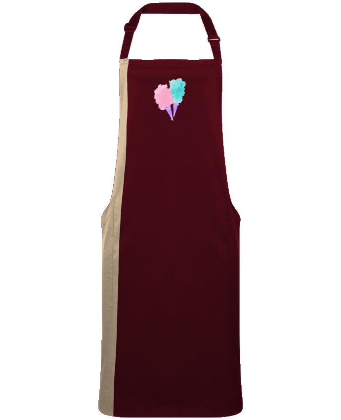 Tablier Long Bicolore Watercolor Cotton Candy par  PinkGlitter