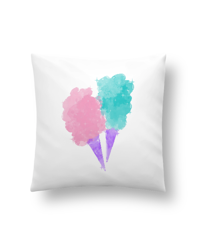 Coussin Synthétique Doux 41 x 41 cm Watercolor Cotton Candy par PinkGlitter